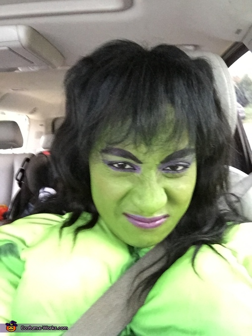 Mom as Hulk, Avengers Family Costume