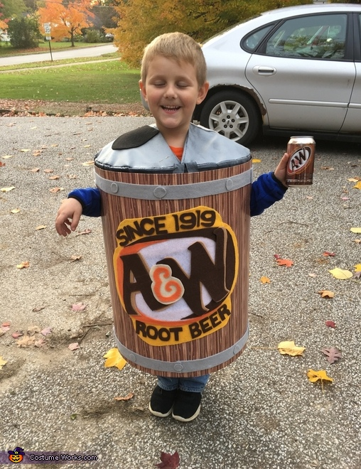 A&W Root Beer Can Costume