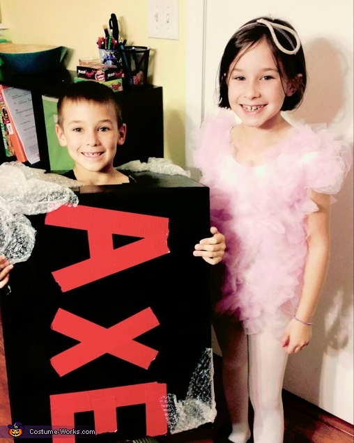 Axe Body Wash and Loofah Costume