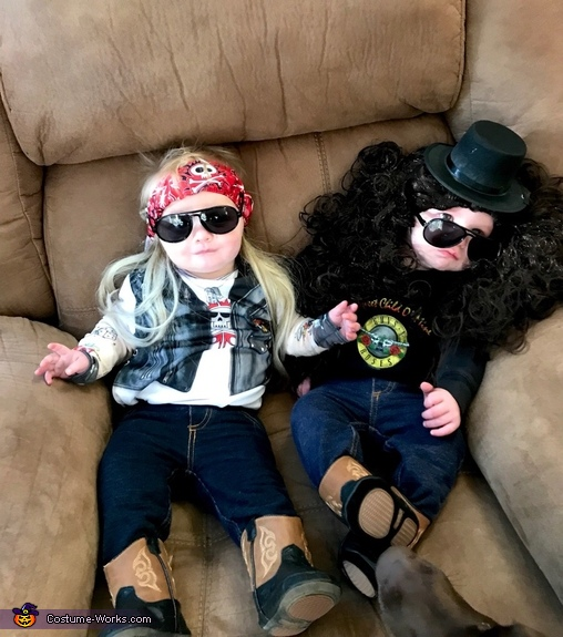 Axl Rose and Slash Costume
