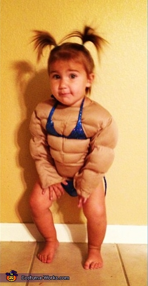 Female Body Builder Homemade Costume