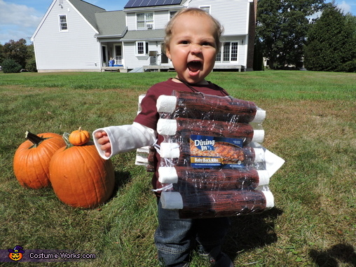 Baby Back Ribs Homemade Costume
