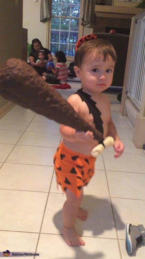 Baby Bam Bam Homemade Costume