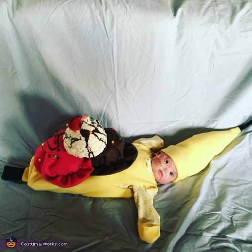 Hazel, the banana split, Baby Banana Split Costume