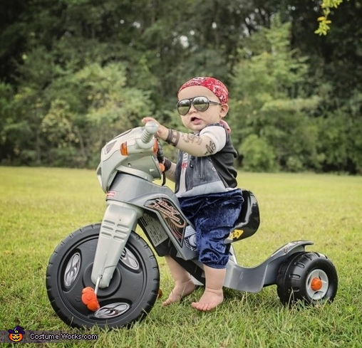 Live To Ride Baby Biker Costume