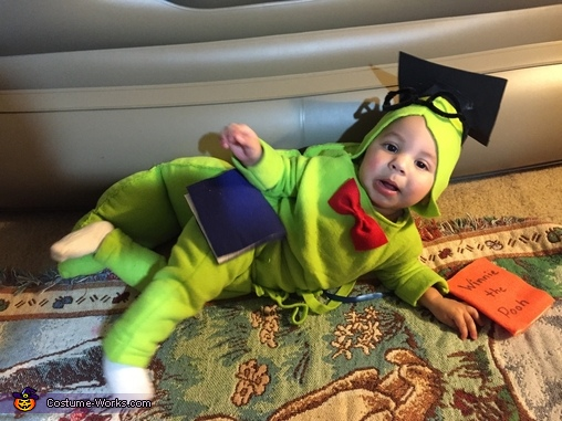 Lounging, Baby Bookworm Costume
