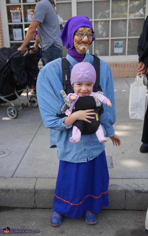Baby Brielle and Grandma Costume