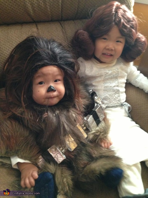 Baby Chewbacca and Little Leia Costumes