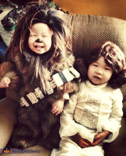 May the Force Be With You, Baby Chewbacca and Little Leia Costumes
