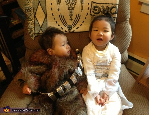 Chewie Unmasked, Baby Chewbacca and Little Leia Costumes