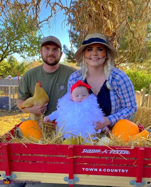Baby Chick, Scarecrow & Farmer - Emery with Mom & Dad, Baby Chick Costume
