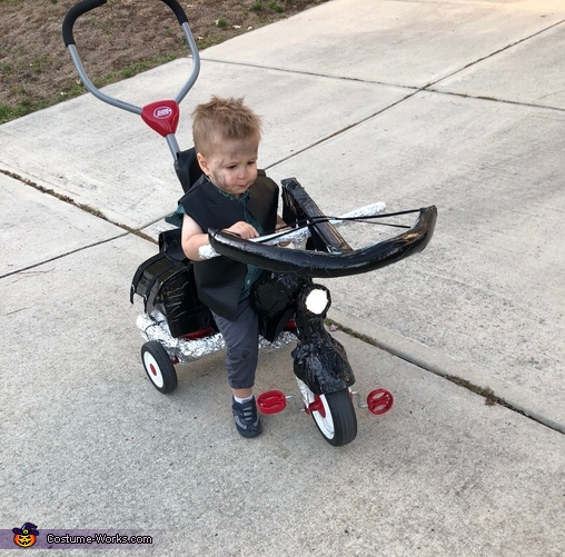 Getting the cross-bow ready., Baby Daryl Dixon Costume