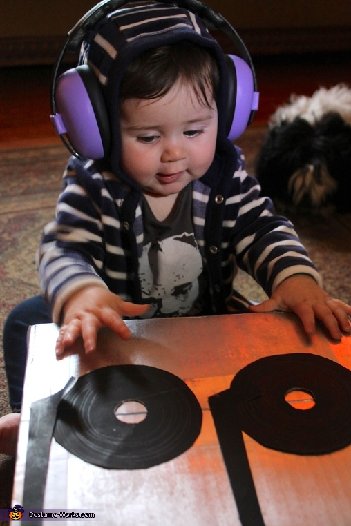 DJ Baby turns up the mix., Baby DJ Costume