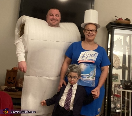 """The whole """"2020"""" family led by Dr. Fauci., Baby Doctor Fauci Costume"""