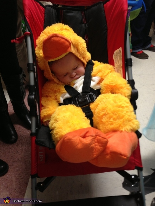 All done trick or treating, Baby Duck Costume