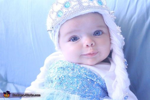 Baby Elsa Frozen Queen Homemade Costume