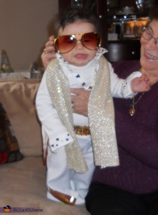 Homemade Elvis costume for babies
