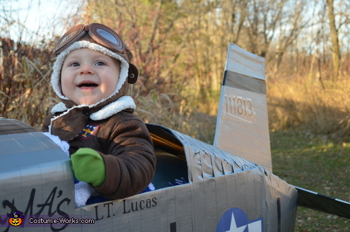 Baby Fighter Pilot Homemade Costume  sc 1 st  Costume Works & Baby Fighter Pilot Costume - Photo 3/3