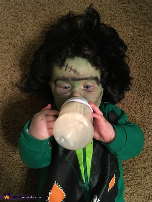 Baby Frankenstein Homemade Costume