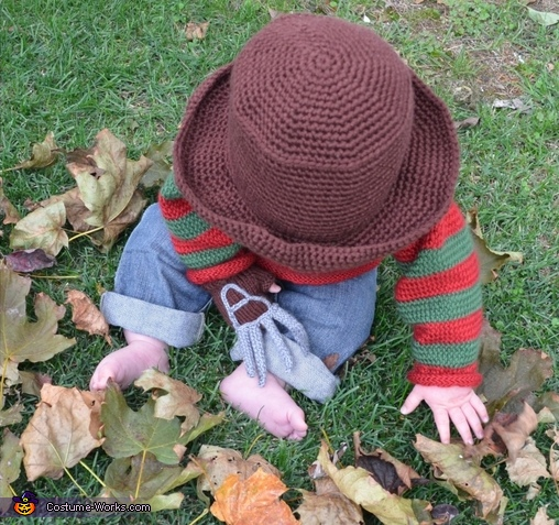 Baby Freddy Krueger Homemade Costume