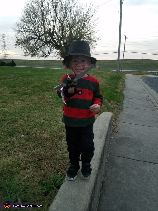 Baby Freddy Kruger Homemade Costume