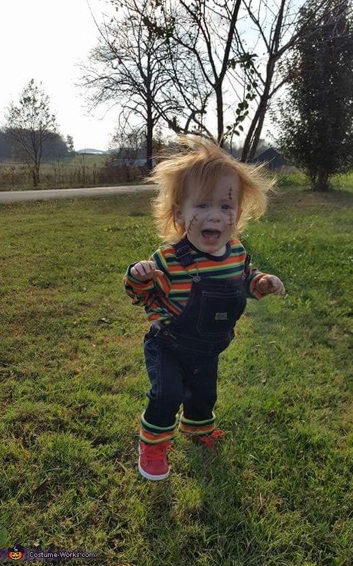 Baby Girl Chucky Homemade Costume
