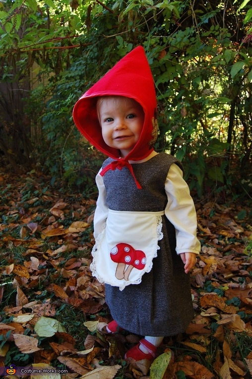 Gnome Costume for Baby Girl