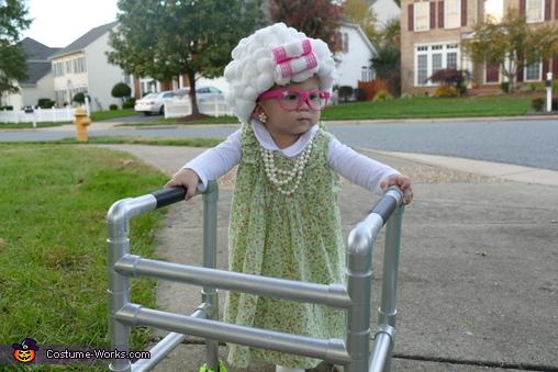 Baby Granny Homemade Costume