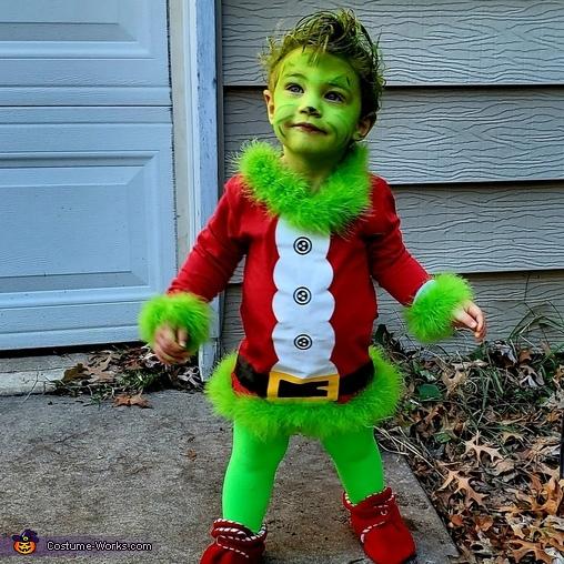 Baby Grinch Homemade Costume
