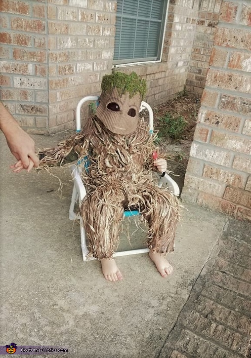 Waiting for the Trick-or-Treaters, Baby Groot Costume