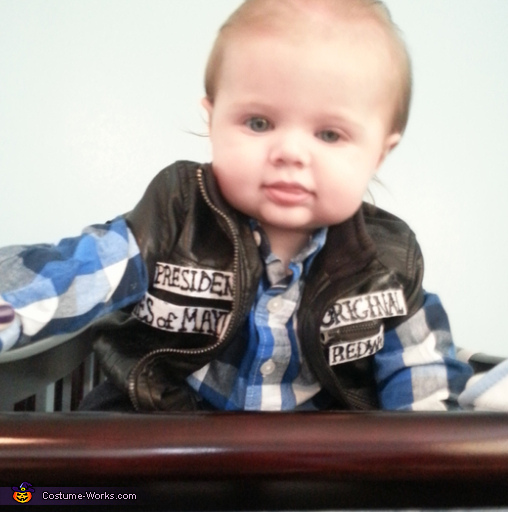 Halloween Costumes For Family Of 3 With A Baby Boy.Baby Jax Teller Costume Photo 2 3