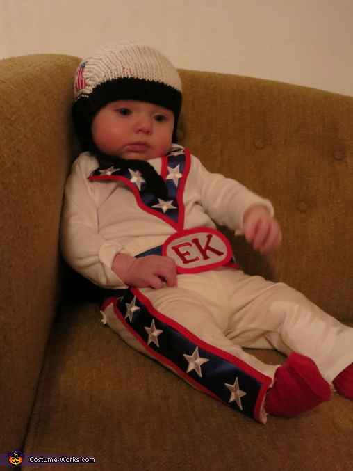 Flared pants for stunt kicks!, Evel Knievel Baby Costume