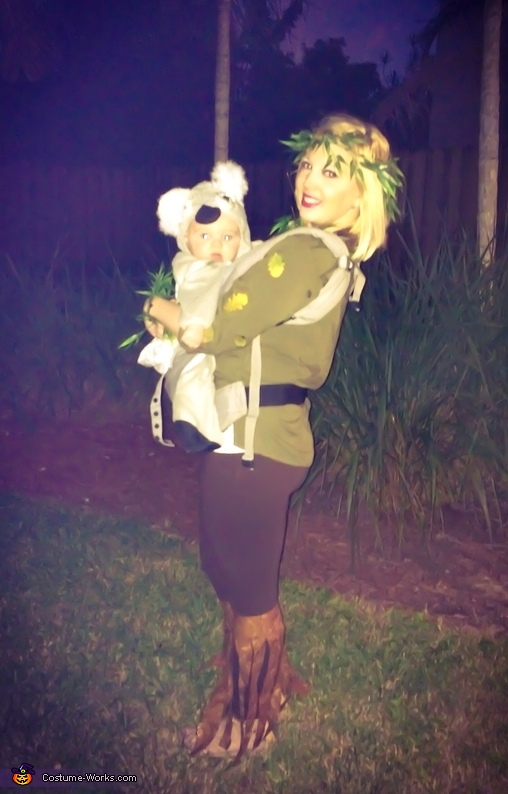 Baby Koala in a Eucalyptus Tree Costume