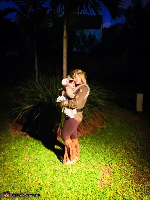 My baby koala, and I'm the eucalyptus tree. , Baby Koala in a Eucalyptus Tree Costume