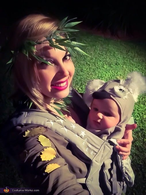 My son and I. As a koala in a eucalyptus tree. , Baby Koala in a Eucalyptus Tree Costume