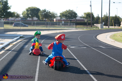 who did they leave behind? , Baby Mario Kart Costume