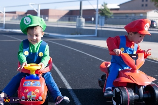 It's gonna be a close one! , Baby Mario Kart Costume