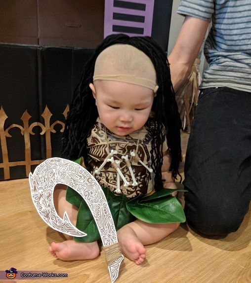 baby Maui and his hook, Baby Maui Costume