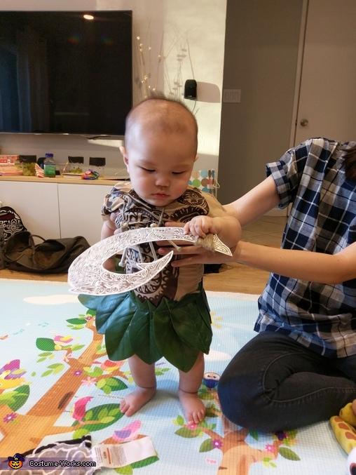 Baby Maui Homemade Costume