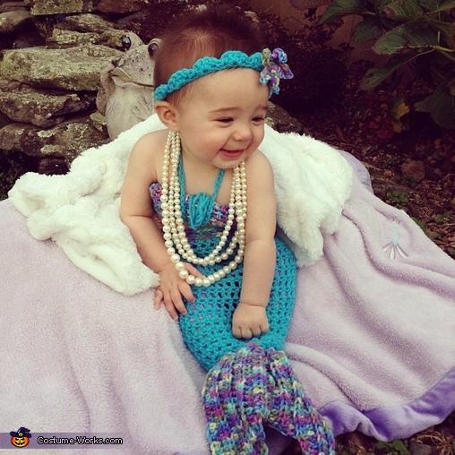 Marlee the Mermaid happy as can be!, Baby Mermaid Costume