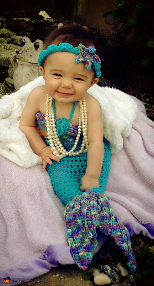 Handmade baby mermaid costume baby mermaid costume solutioingenieria Image collections