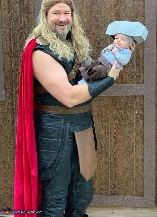 Baby Mjolnir and Thor Costume