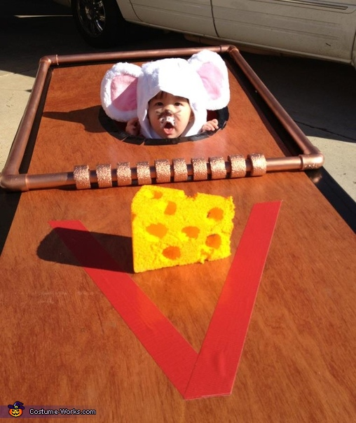 Baby Mouse in a Mouse Trap Costume