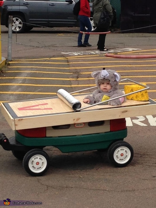 Riding around in style, Baby Mouse in a Trap Costume