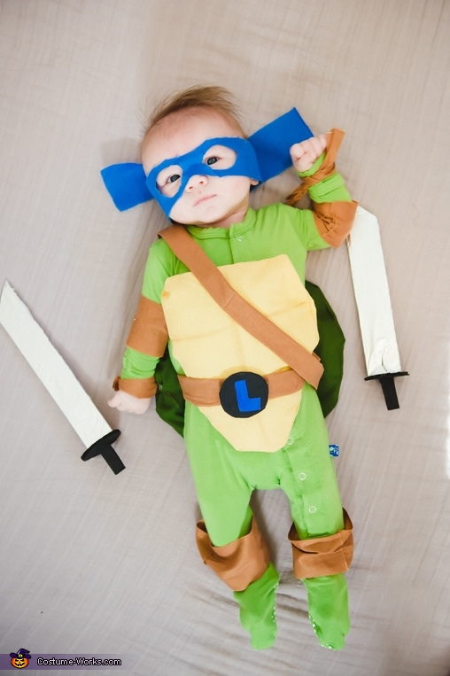 Baby Mutant Ninja Turtle Homemade Costume