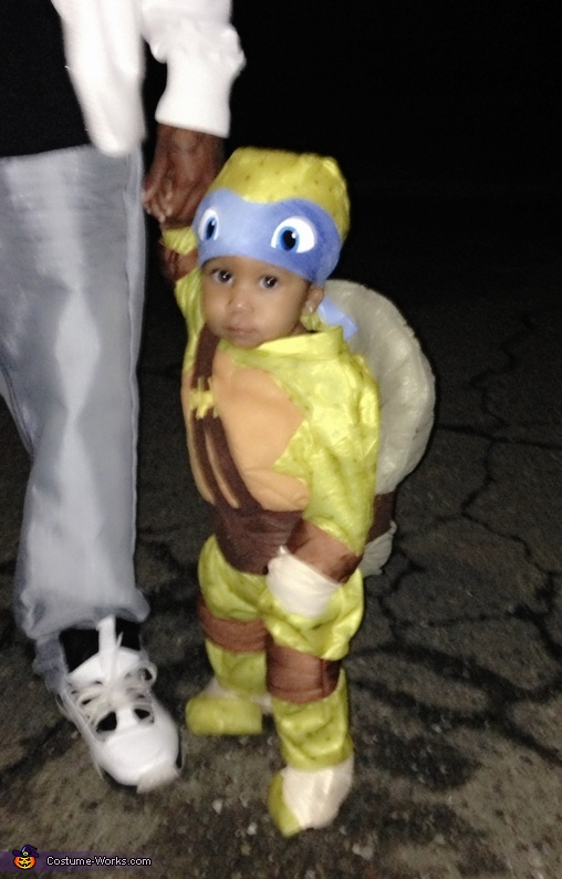 Trick or treat, Baby Ninja Turtle Leonardo Costume