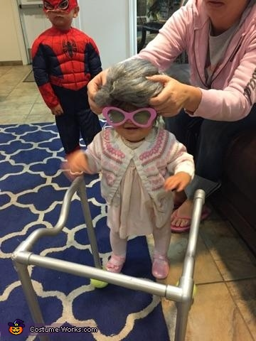Baby Old Lady Homemade Costume