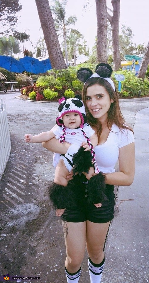 Baby Panda Homemade Costume