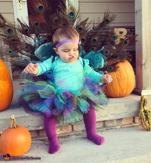 DIY Baby Peacock Costume
