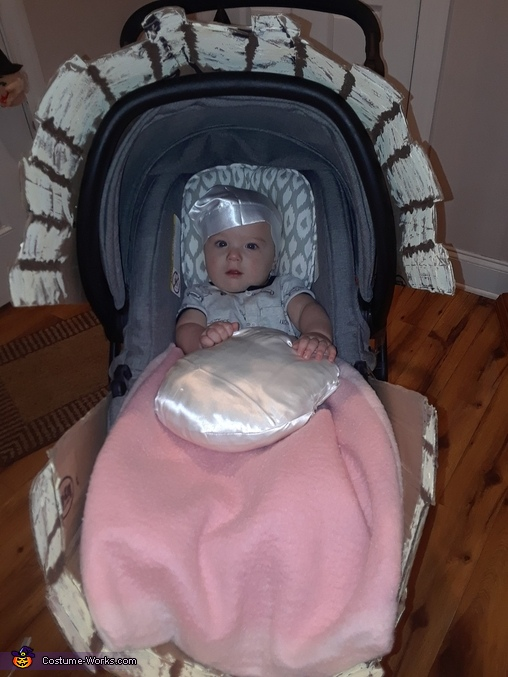 Baby Pearl in a Clam Shell Homemade Costume